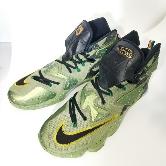 factory price e70e9 025f8 Nike LeBron 13 Green camo. GATOR SNEAKERS